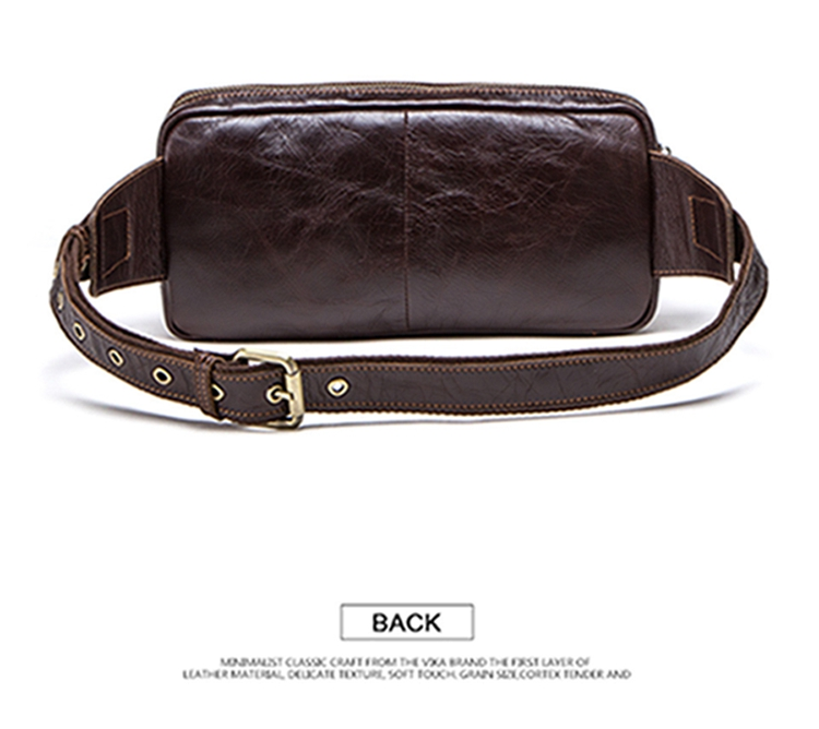 dropshipping contact's 2019 Retro Casual genuine leather men cross body waist bag