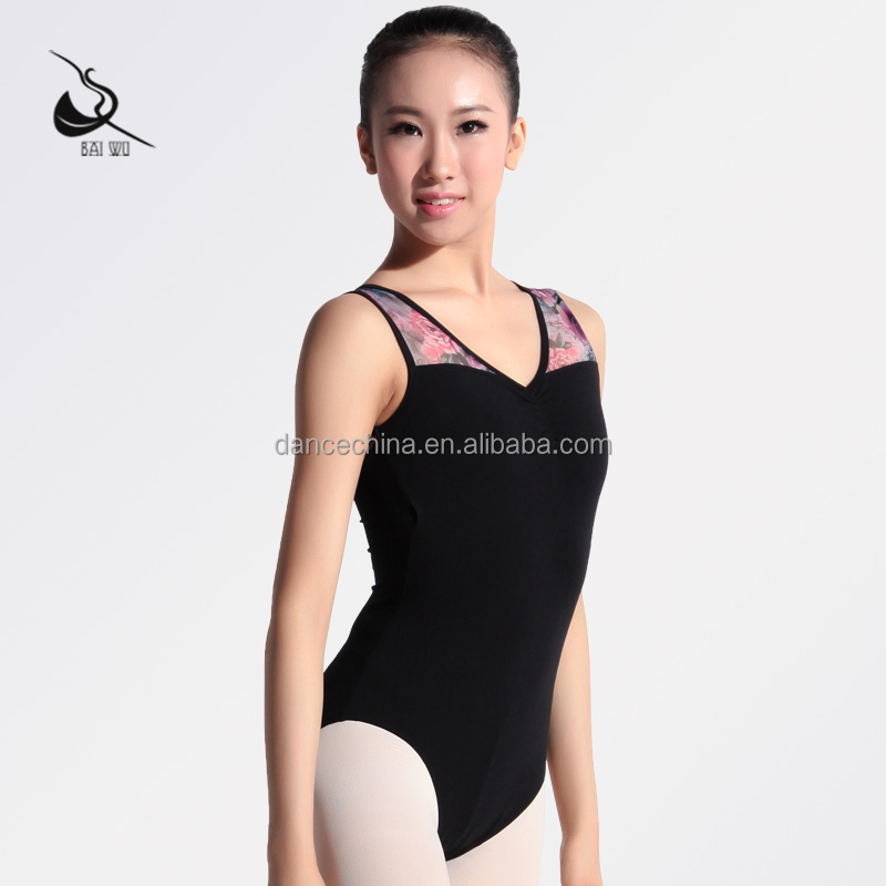 116141053 Ballet Fashion Leotards Mesh Printed Leotards
