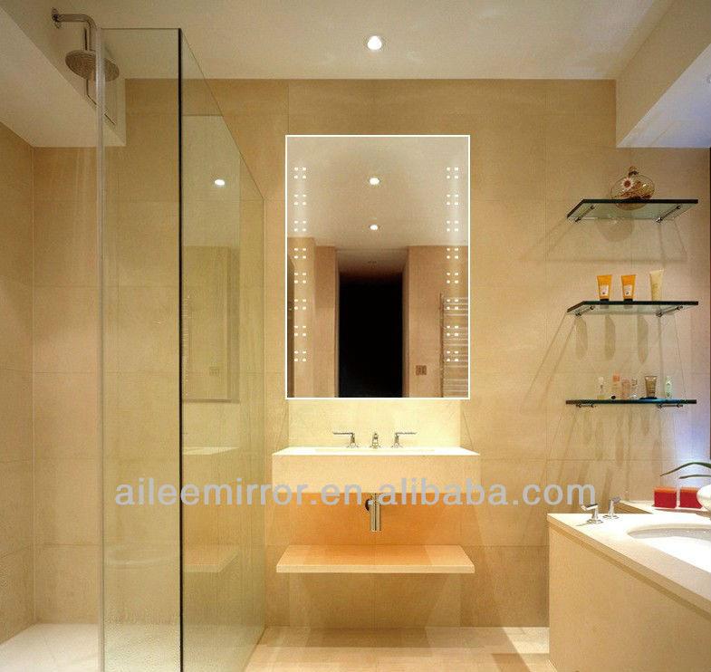 Ba o espejo con luz de tira del led sistema de for Iluminacion bano led