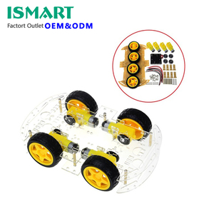 Smart Car Kit 4WD Smart Robot Car Chassis Kits with Speed Encoder and Battery Box for UNO R3 Diy Kit
