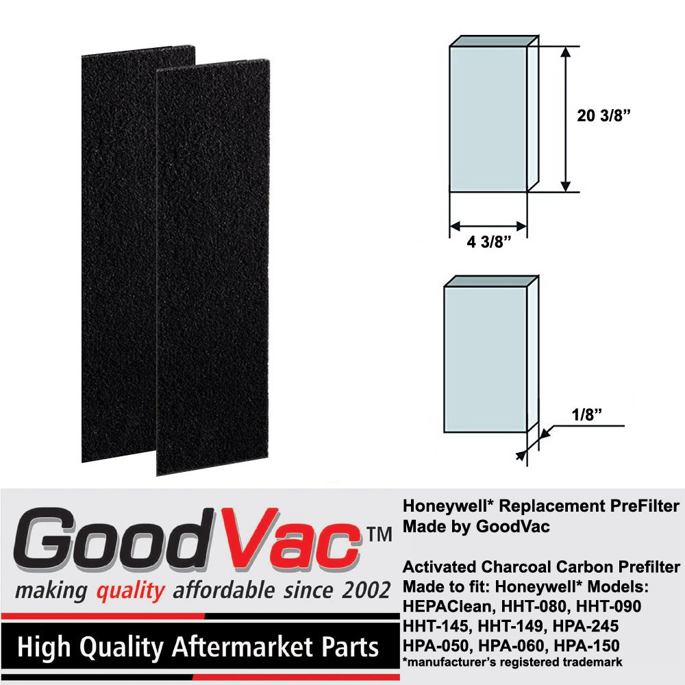 GoodVac Honeywell HEPAClean Tower Air Purifier Odor Absorbing Replacement Pre-Filter Filter B (2)