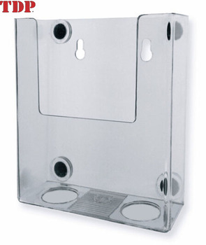 safe wall mounted clear acrylic slatwall magazine holder for newspaper display