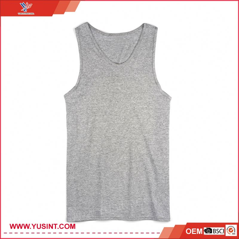 wholesale fitness clothing eco-friendly mens wholesale plain white tank top