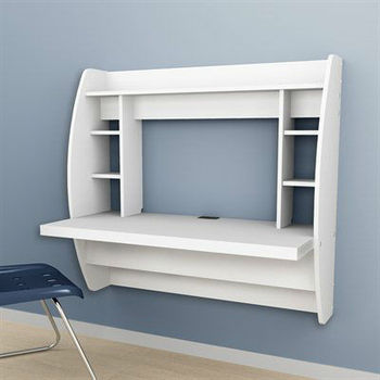 floating desk with storage computer desk wall spase saving