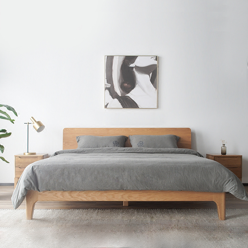 nordic style bedroom furniture hot selling couch <strong>bed</strong> solid wood double <strong>bed</strong>