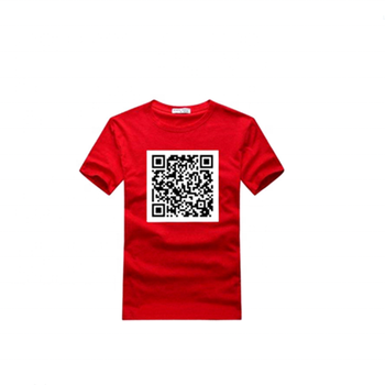 Two-dimensional code t-shirt , QR custom apparel and promotional QR code clothing