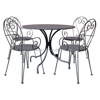 French Metal Outdoor Garden Dining Set
