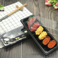 Eco- friendly plastic food sushi packaging Disposable plastic food container with lid