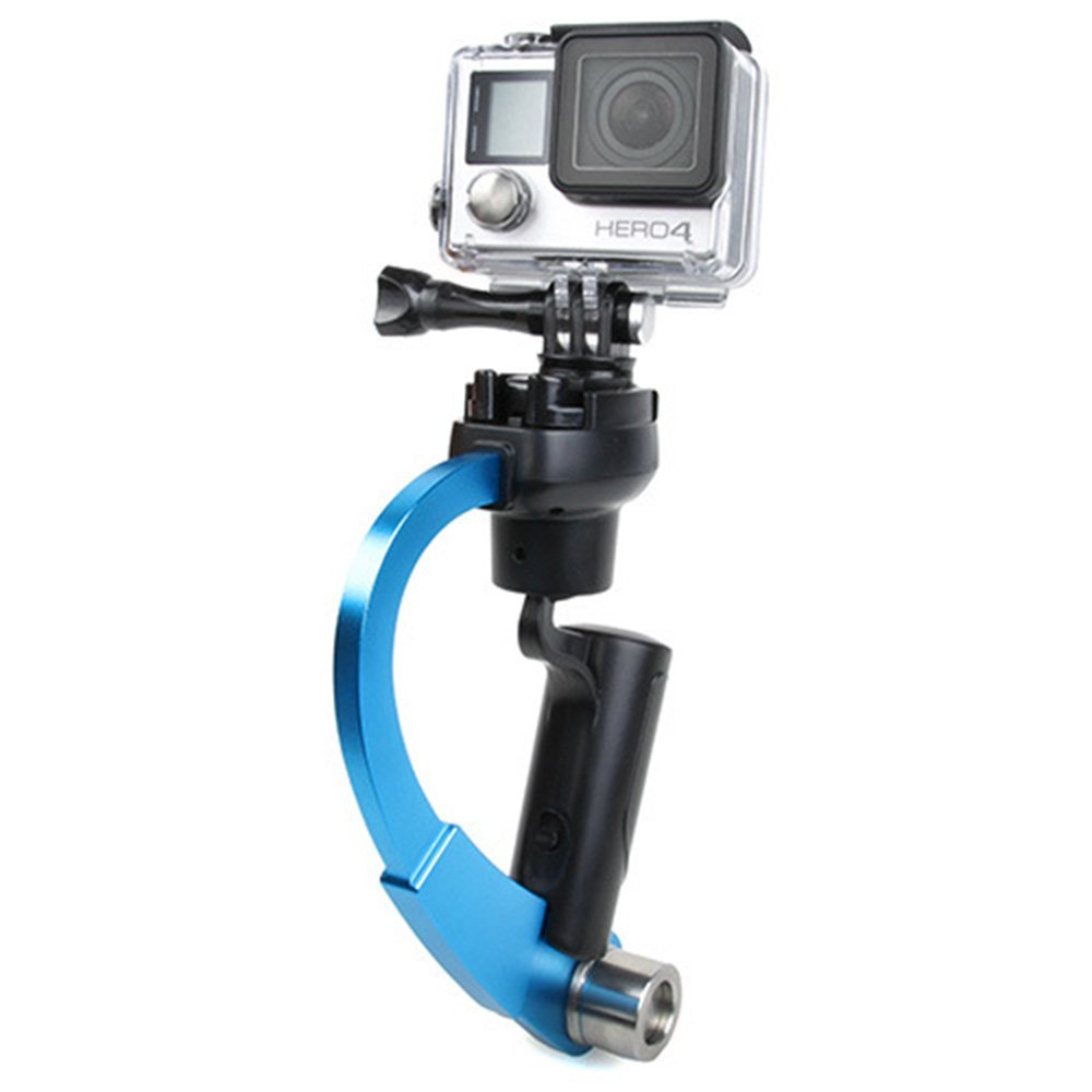 Huayang| Pro Handheld video Camera Stabilizer for GoPro, Perfect for GoPro, Curve Hand Held Stabilizer Support Grip SteadiCam For Camera Gopro 1/2/3/4 Blue