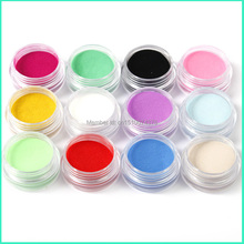 Hot AliExpress 12 Colors Acrylic Powder Manicure Tips Nail Art 3D Decoration Builder Polymer Free Shipping