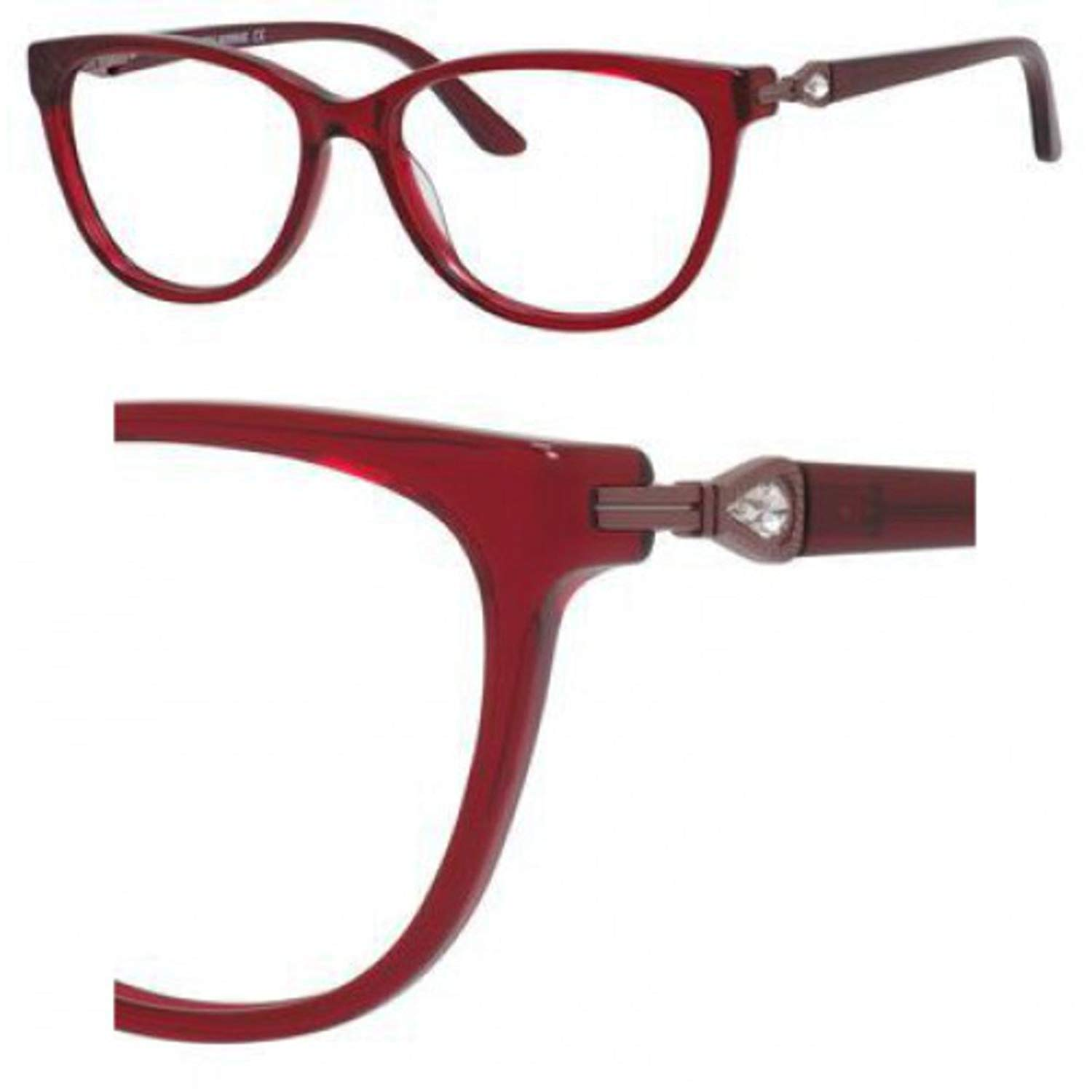 Eyeglasses Saks Fifth Avenue 302 0ETH Burgundy Crystal