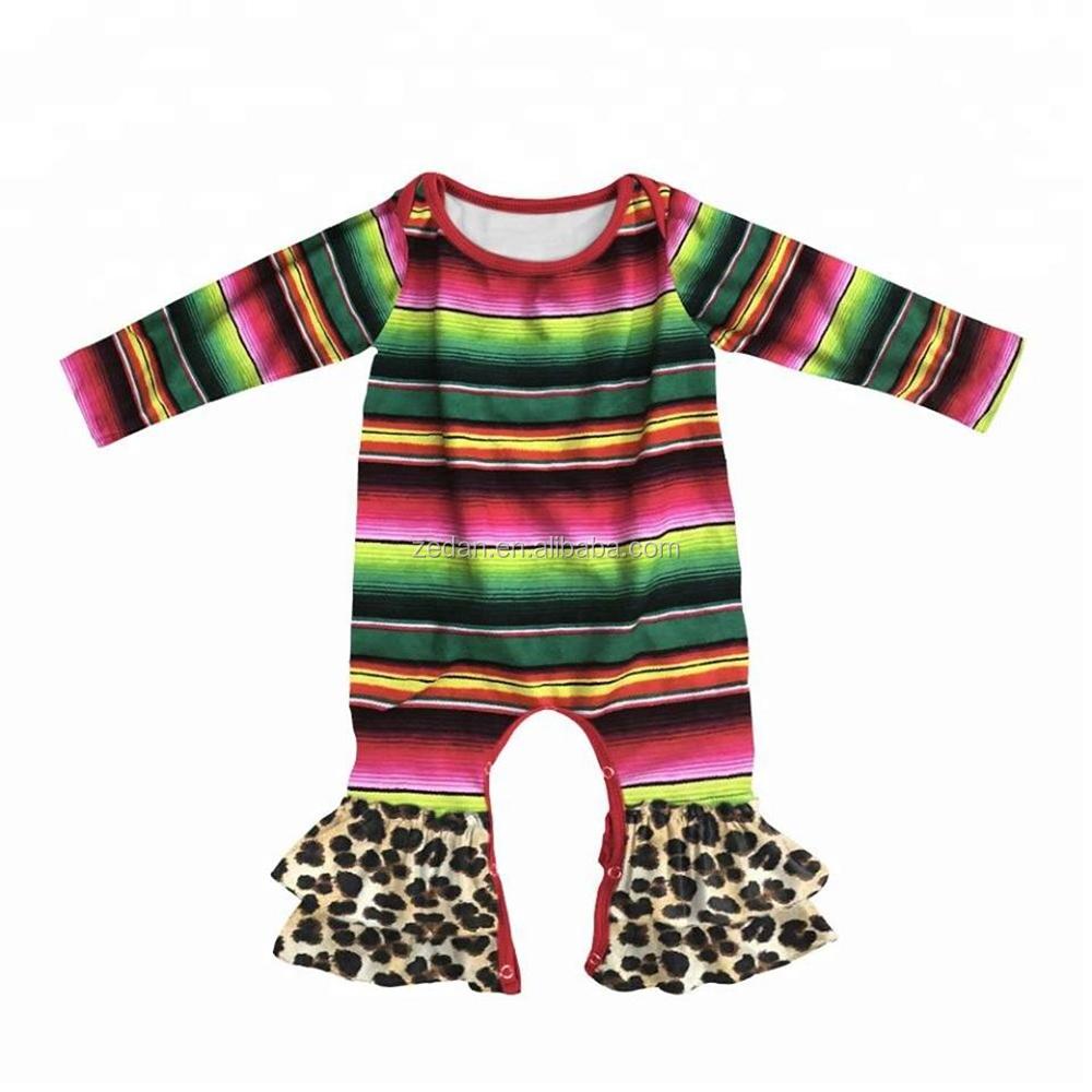 b2b9996ee Super Bow fall romper football print polka dot flutter baby onesie infant  ruffle bodysuit