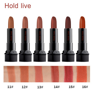HOLD LIVE retro lip makeup velvet matte lipstick waterproof long lasting orange brown nude lipstick cream soft lip pencil
