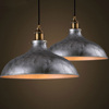 Industrial lighting semi suspended lamp half moon pendant light