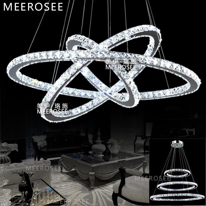 Luxury Modern Chandelier Led Circle Ring Chandelier Light: LED Crystal Ring Chandelier Light Modern LED Circle