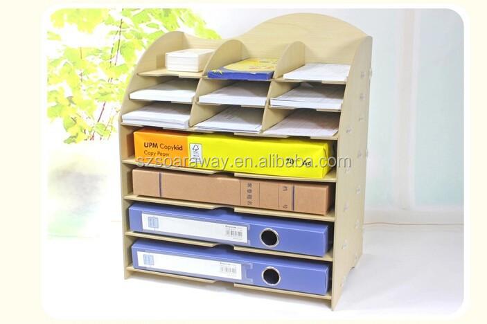 Goedkope modern design houten bureau organizer boekenrek hout desktop kleuterschool meubilair - Houten bureau voor kinderen ...