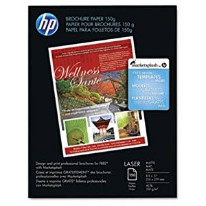 HP Brochure/Flyer Paper - Letter - 8.50quot; x 11quot; - 40 lb - Matte, Ultra Smooth - 97 Brightness - 150 / Pack - White