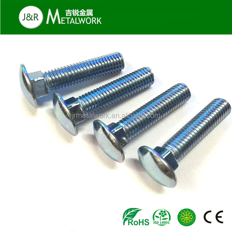 Grade 8.8 DIn603 round head galvanized plated carriage bolt