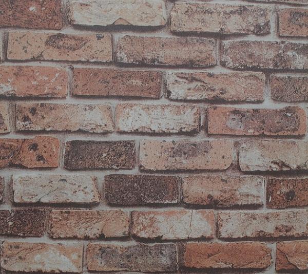 Mural d coratif de vinyle 3d conception de briques papier for Enduit mural decoratif