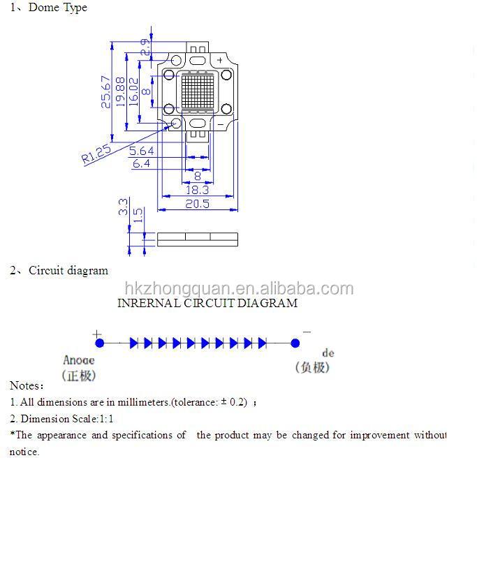 Examples Manufactured Goods 850nm Ir Led 1w 3w 5w 10w 20w 30w 50w ...
