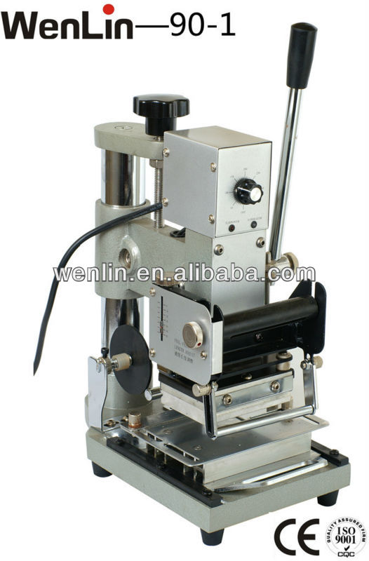 WENLIN -160 Hot Stamping gilding tipping hot foiling heat press stamper machine PET card making equipment