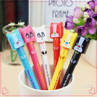 promotional japanese stationery ball pen ,best quality animal shaped funny plastic 0.5 disposable ballpoint pen with blue pink