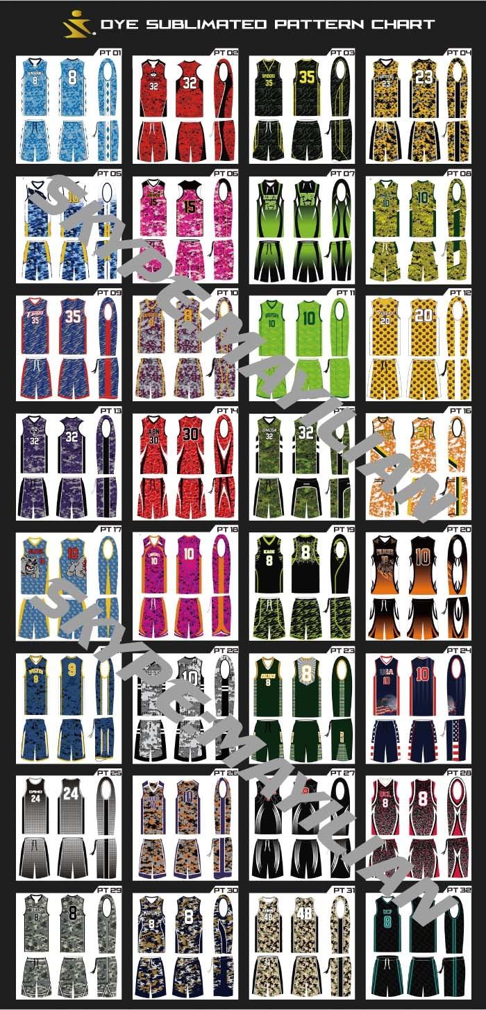 64c58845703 Custom design full dye sublimation digital basketball uniform with team logo