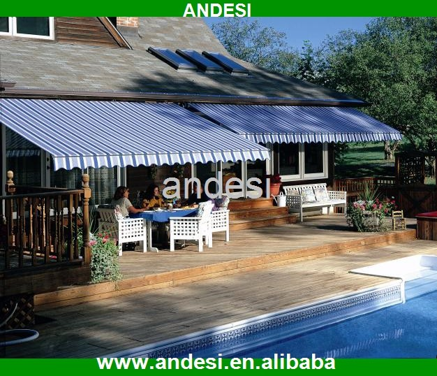 retractable markise 5 meters pergola cover