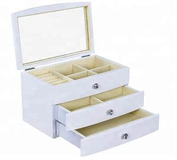 934e990aa79a Sala multifunción blanco ecológico madera 3 capas joyero caja de  almacenamiento cajón organizador ...