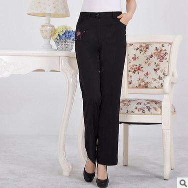 High quality women casual trousers embroidered design fashion long pant
