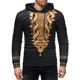 Pullover Digital Printed Mens African Style Clothing Custom Hoodie