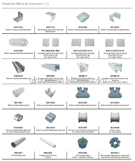 2014 Newly Venetian Blinds Parts For Office Building Electric