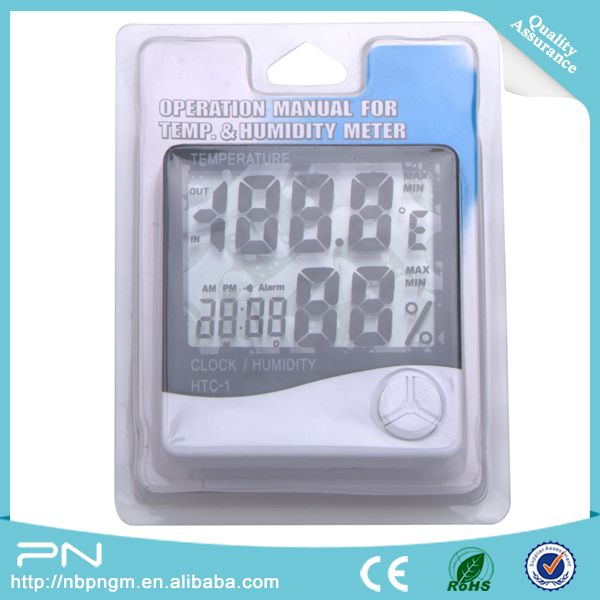 Small Digital Lcd  Display Humidity Room Thermometer & Hygrometer