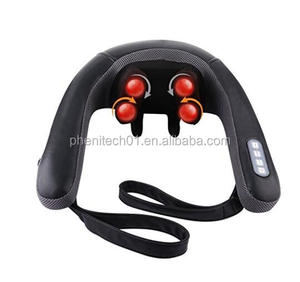 Hot selling New kneading shiatsu neck shoulder massager with infrared heat