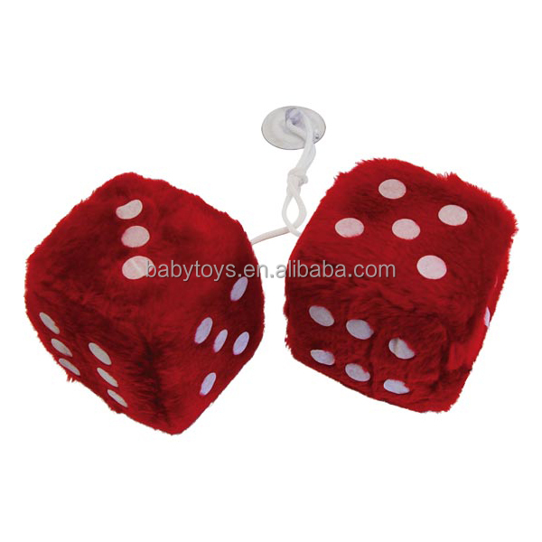 ICTI toy factory custom plush soft dices hanging for car