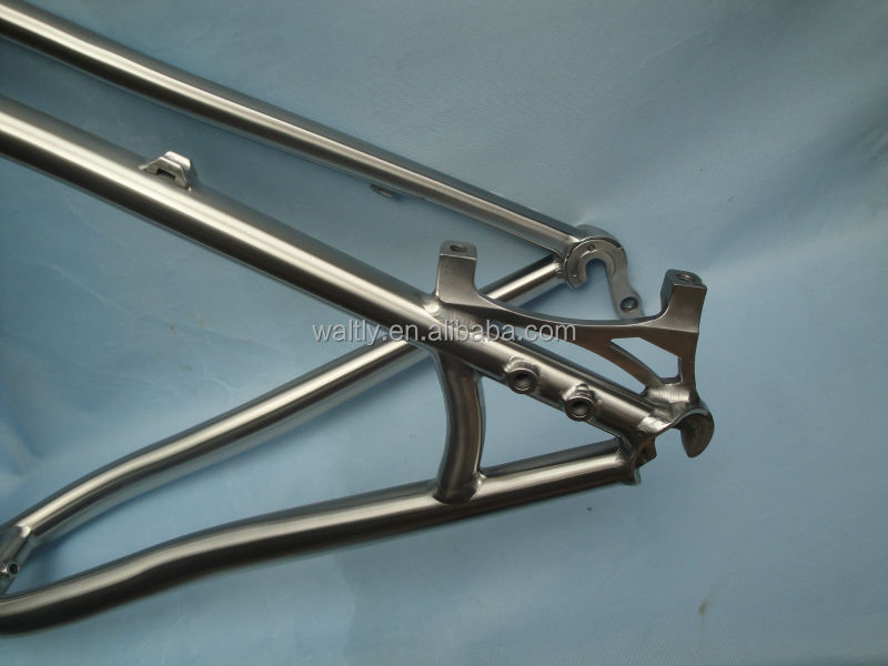 Best selling 3AL2.5V titanium mountain bike frame 26""