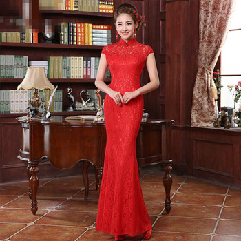 Plus Size Chinese Wedding Dress Qipao Cheongsam Maxi Design Lace Cheongsam  - Buy Modern Wedding Cheongsam Dress,Red Chinese Cheongsam,Long Cheongsam  ...