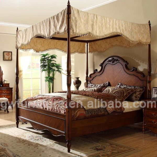 King four poster bed unique king size beds this beautiful for Four poster wooden beds