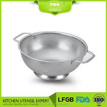 31.5 cm perforated stainless steel colander strainer
