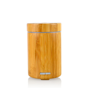 120ml ultrasonic humidifier cool mist electric bamboo essential oil aroma diffuser