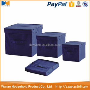 New design Foldable fabric storage box toys organizers for children,kids household shoes storage box with lid
