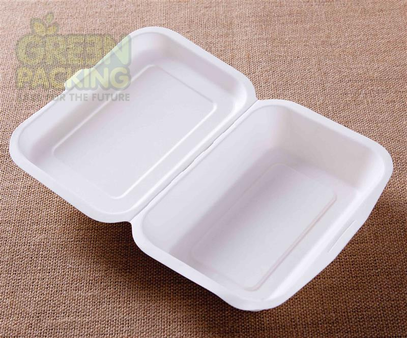 450 ml compostable and biodegradable fast food take away lunch box