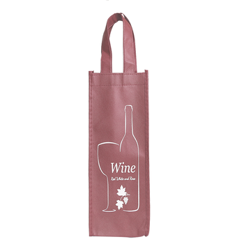 Factory Wholesale Fancy Luxury Gift Packaging Custom Printed Bottle Non Woven Wine Bags with Handles