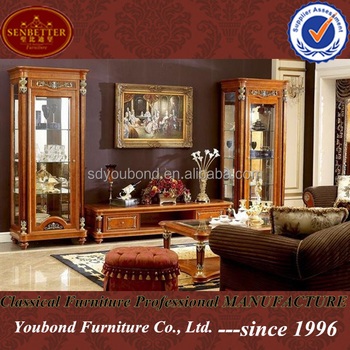 0029 High quality luxury wooden living room furniture German TV ...