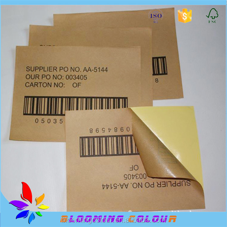 Qingdao factory self adhesive sticker labels / customized sticker printing for garments