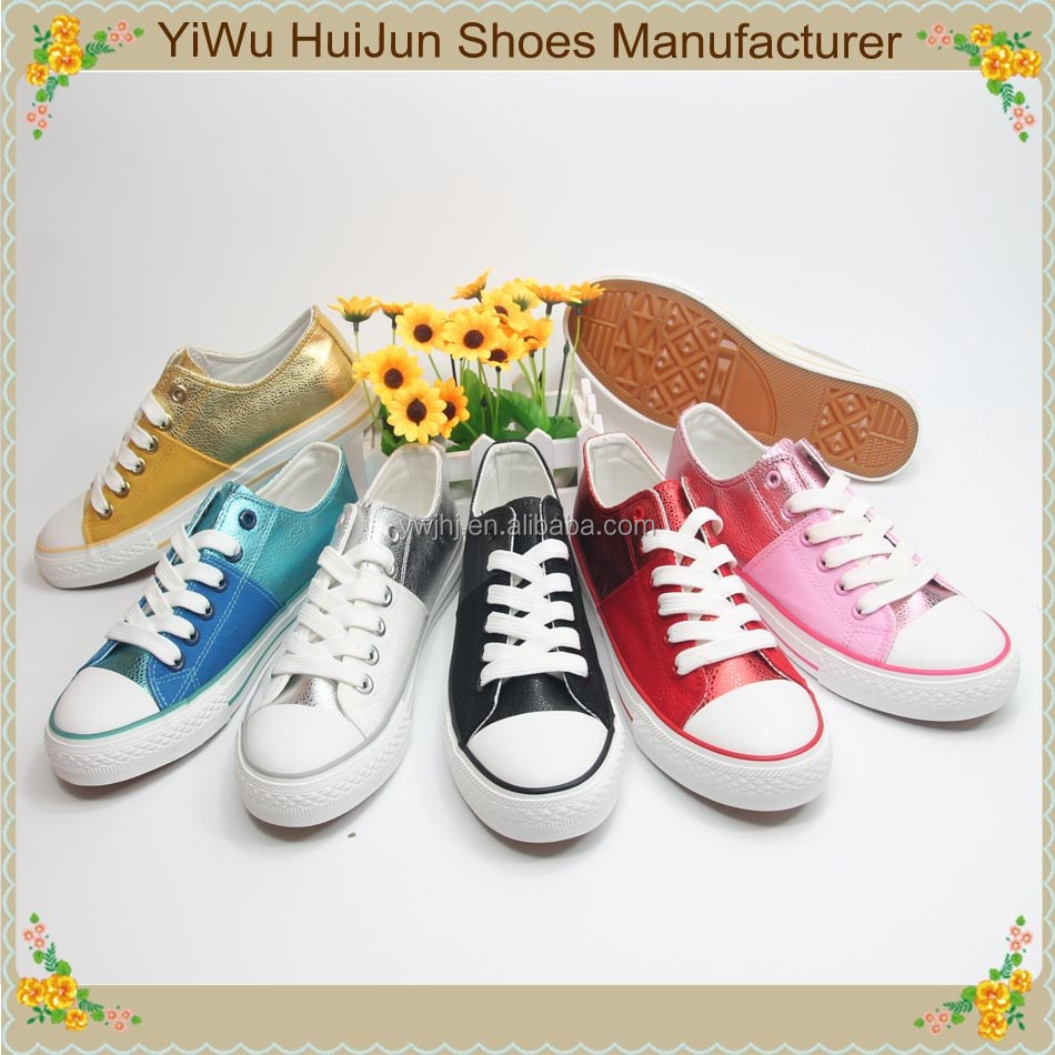 Manufacture New All Star PU vulcanized women shoes ladies