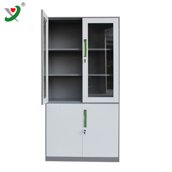 Profession Office Glass Door Steel Storage Cabinet Glass Front