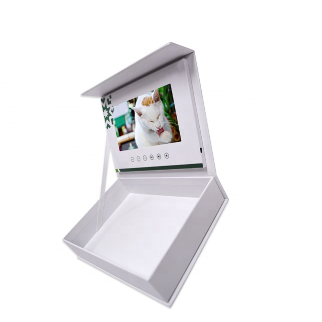 Promotional lcd video gift box 7 inch video brochure for business gift