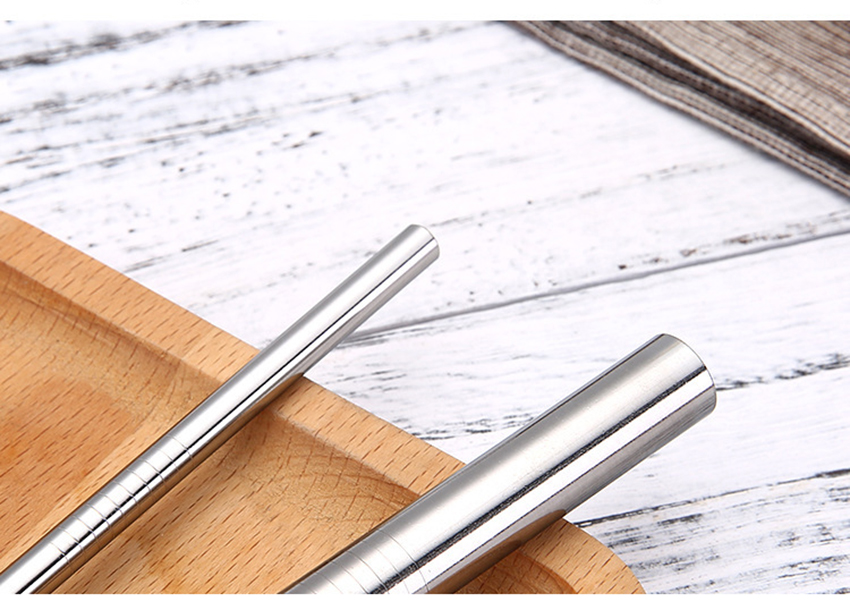 Drinking Straw Reusable Straws  Set High Quality Eco Friendly 304 Stainless Steel Metal Straw