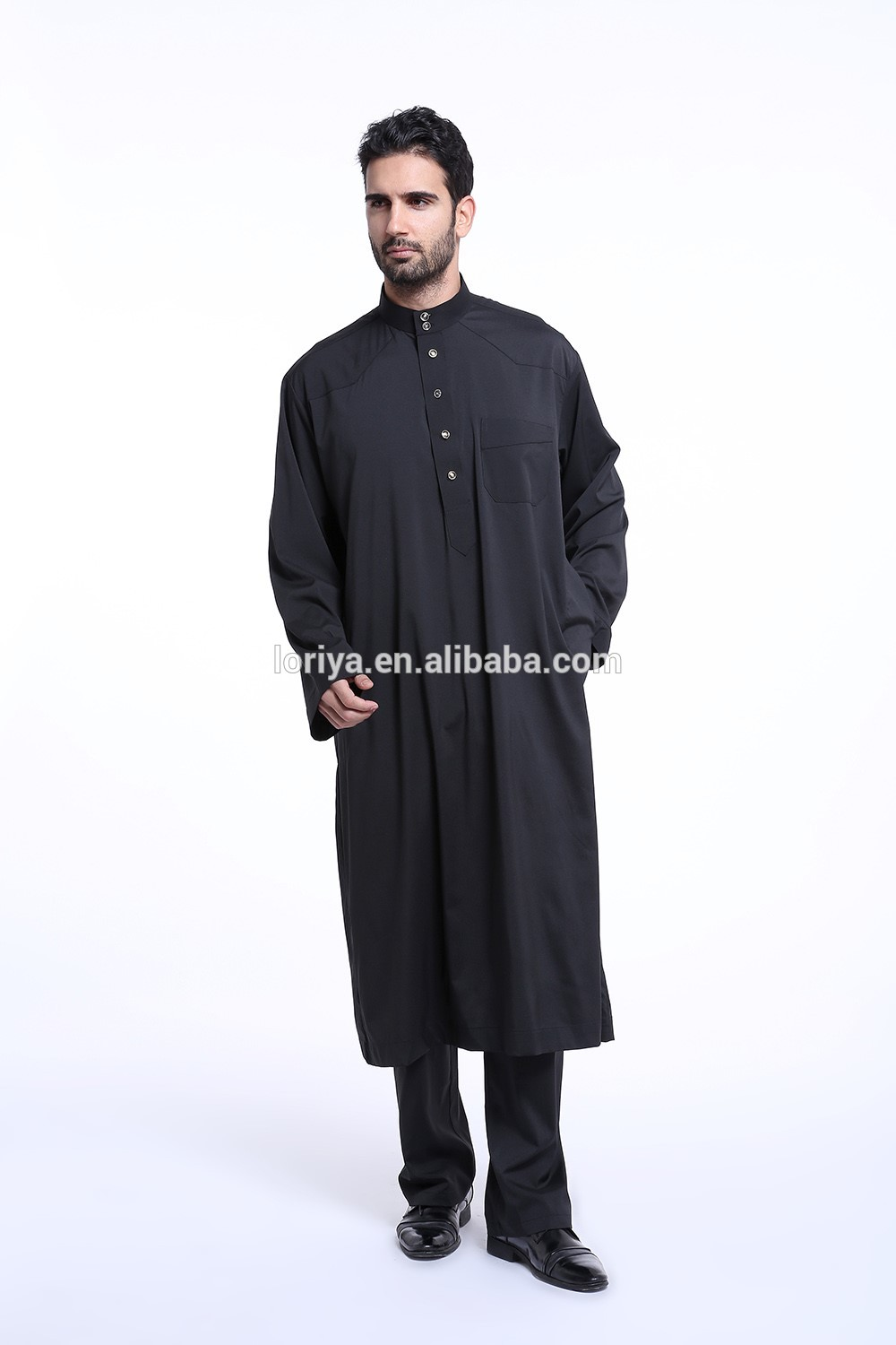 Popular men arab muslim dress new style islamic clothing men's abaya